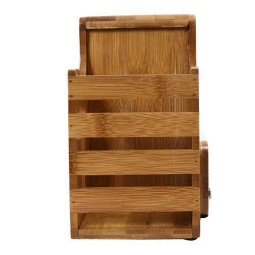 CYYC MULTI-PURPOSE BAMBOO CUTTER STORAGE RACK KITCHENWARE (BEIGE WOOD)