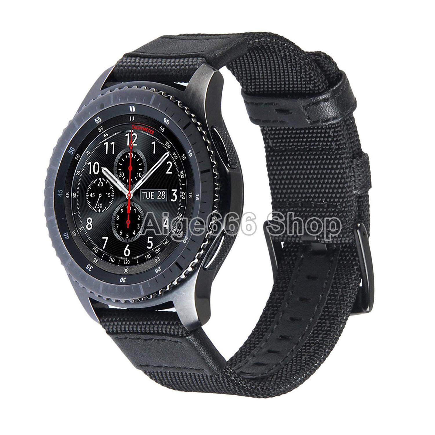 Woven Nylon Band Strap Sport Wristband with Stainless Steel Metal Buckle for Samsung Gear S3 Classic SM-R770 S3 Frontier SM-R760 SM-R765 Smart Watch
