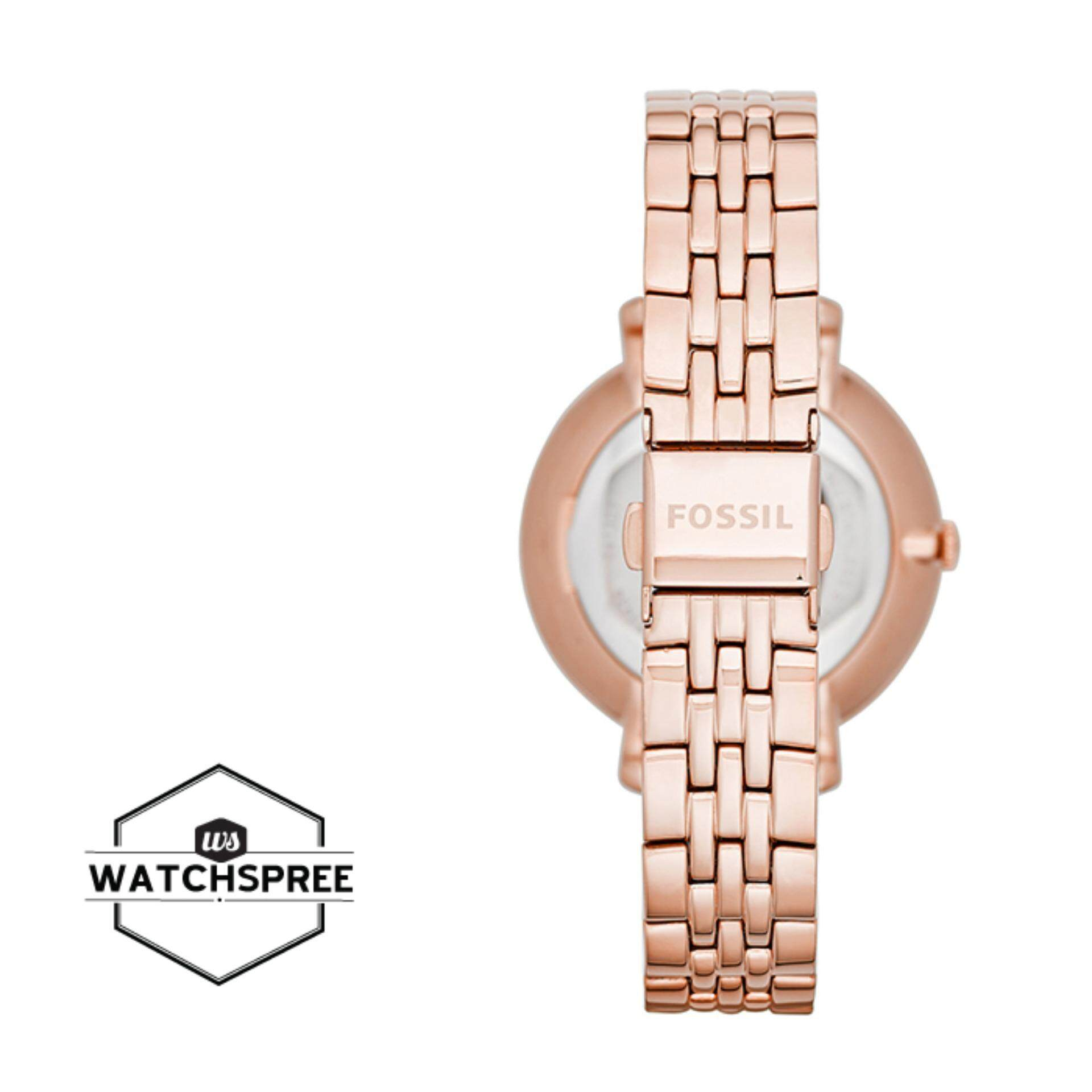 Features Aug Fossil Ladies Jacqueline Rose Tone Stainless Steel Es3590 Stella Multifunction Watch Band Es3435