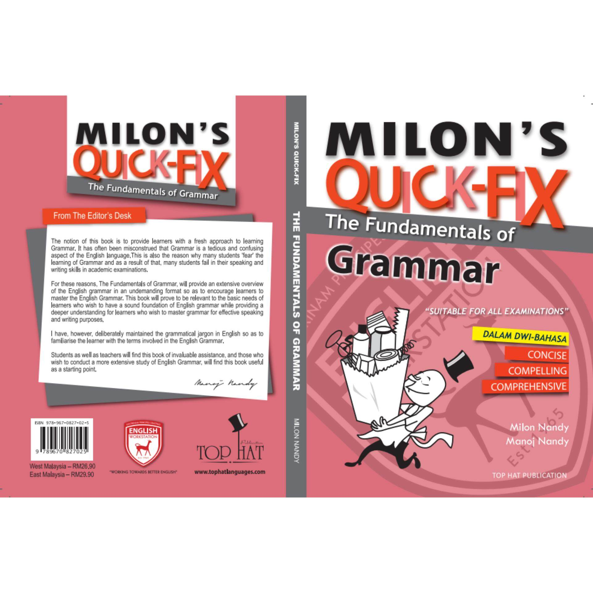 Milon\'s Quick-Fix: English Grammar Dwi-Bahasa