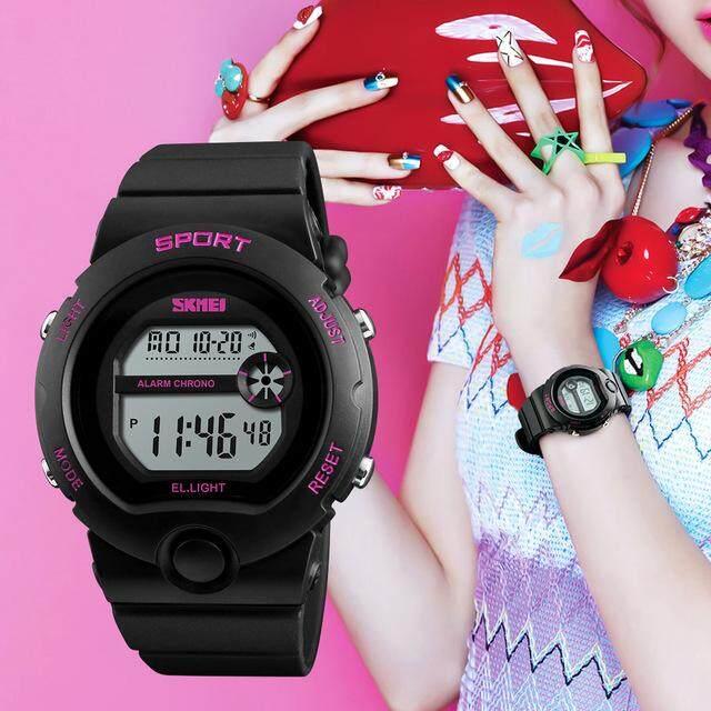 SKMEI 1334 Fashion Ladies Watch Woman Waterproof Alarm Digital Sports Wrist Watches - intl