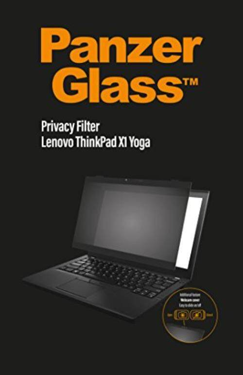 PanzerGlass Privacy Protection Filter for Lenovo ThinkPad X1 Yoga, Webcam cover, Easy attachment and detachment, Anti-glare coating, Blue light reduction, Scratch protection - intl
