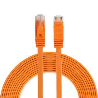 Price Checker 3 M CAT6 Ultratipis Datar Jaringan Ethernet Kabel LAN, Stiker Pimpinan RJ45 (