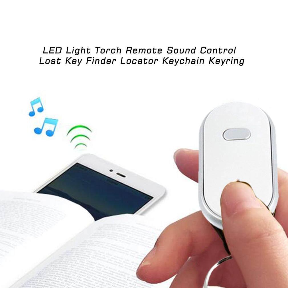 Gosport Senter Lampu LED Jarak Jauh Kontrol Suara Hilang Pencari Kunci Pencari Gantungan Kunci Gantungan Kunci
