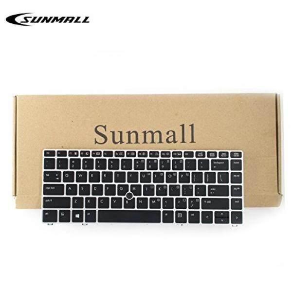 Sunmall Backlit Keyboard Penggantian dengan Perak Bingkai dan Mouse Penunjuk untuk HP EliteBook Folio 9470 M 9480 M Seri Hitam AS Layout (Garansi 6 Bulan) -Internasional