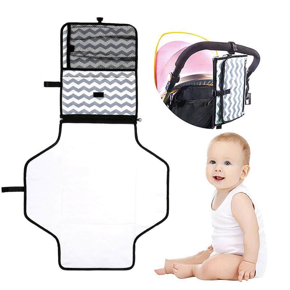 Sale Aolvo Extra Long Portable Kids Diaper Changing Pad Waterproof Change Mat And Diaper Organizer With Soft Memory Foam Pillow Foldable Baby Travel Station Intl Online China