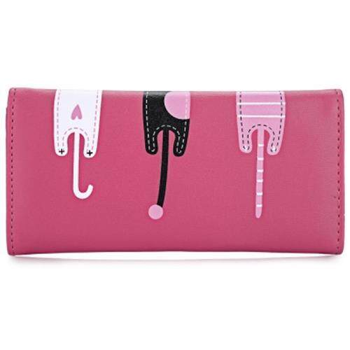 GUAPABIEN SWEET CAT SNAP FASTENER LONG HORIZONTAL WALLET FOR GIRL (RED)