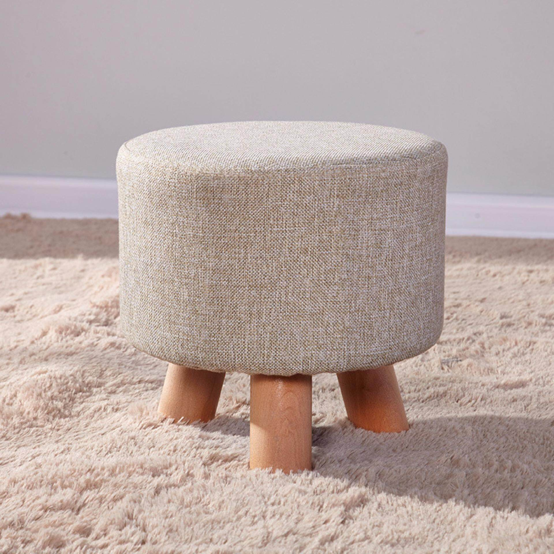 Solid wood Fashion Shoe Stool Child Sofa Short Stool 28 * 25cm - intl