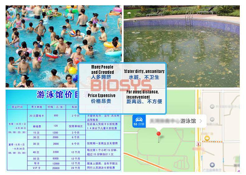 Shuidi 2 5 Meter Extra Large Inflatable Swimming Pools With Consumption 682 Liters Water 3 Layer
