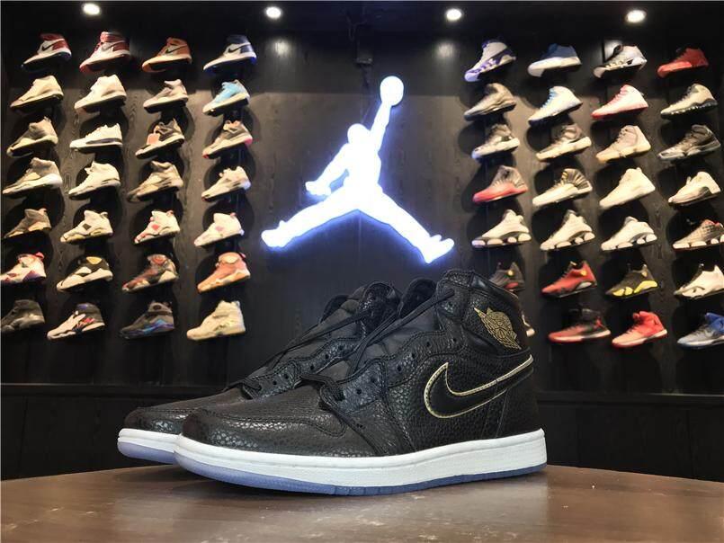 d41cd4de178 ... 2018 Nike Air Jordan 1 Retro High OG LA All Star City Of Flight Black  AJ1