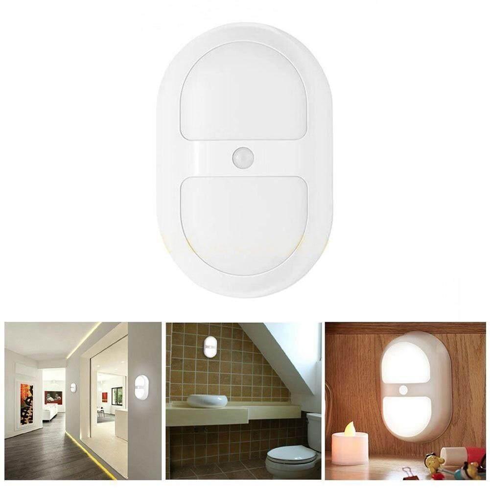 opkmc Stick Anywhere Motion Sensor LED Night Light With Dusk To Dawn Sensor Light Control Wall Lights - White - intl