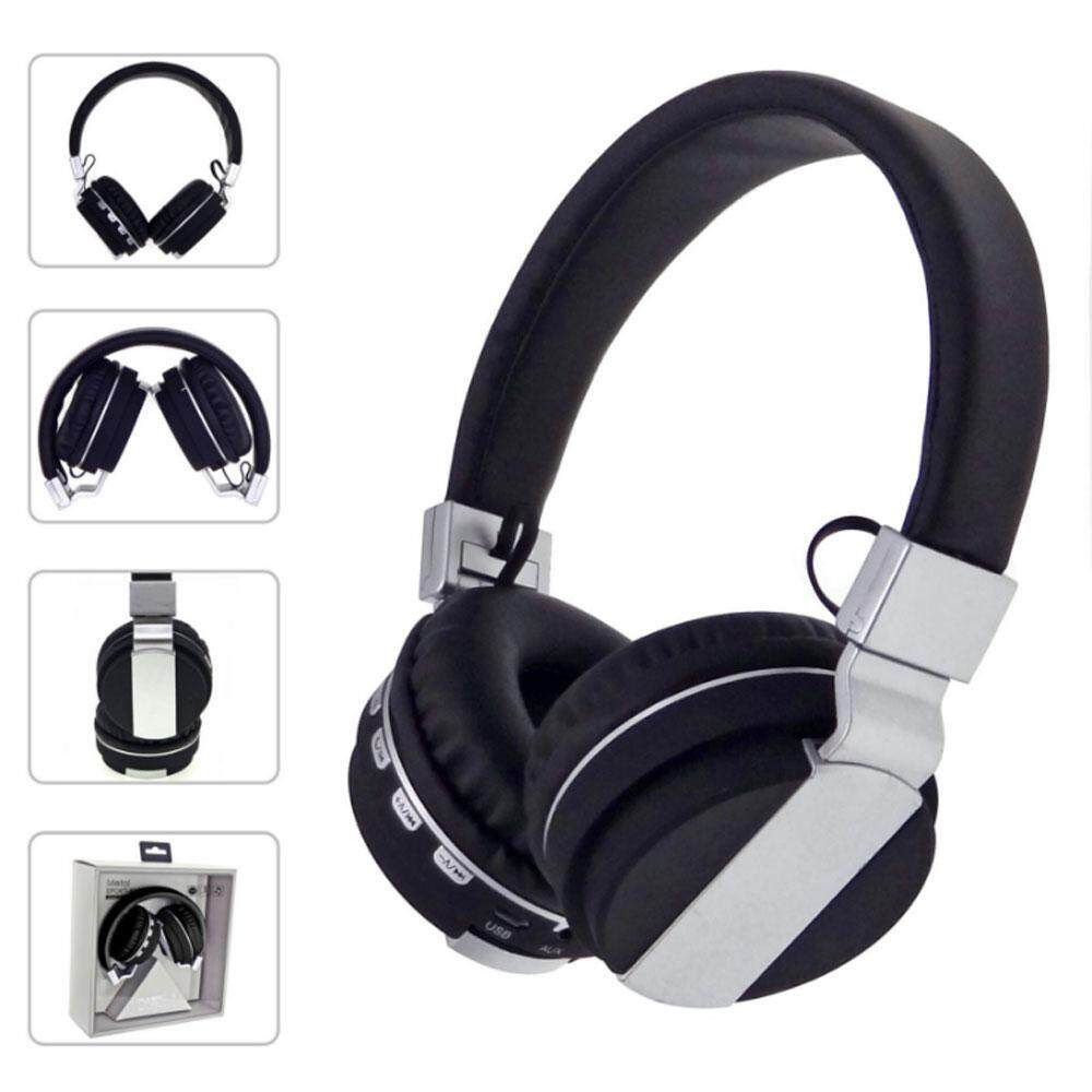 xafecha Foldable Wired and Wireless Headphones, Over Ear Lightweight Folding Hi-Fi Dual Stereo Deep Bass Noise Cancelling Rechargeable Bluetooth 4.2 Headset FM Radio with Microphone Volume Control