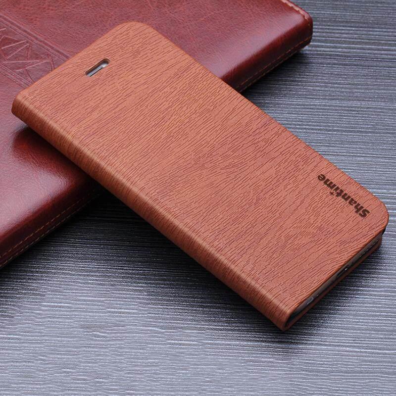 Kayu Kasus Telepon untuk Samsung Galaksi J7 2015 Casing Kulit Butir Kayu Lipat Sarung untuk Samsung Galaksi J700F Antik Dompet tas Ponsel-Internasional