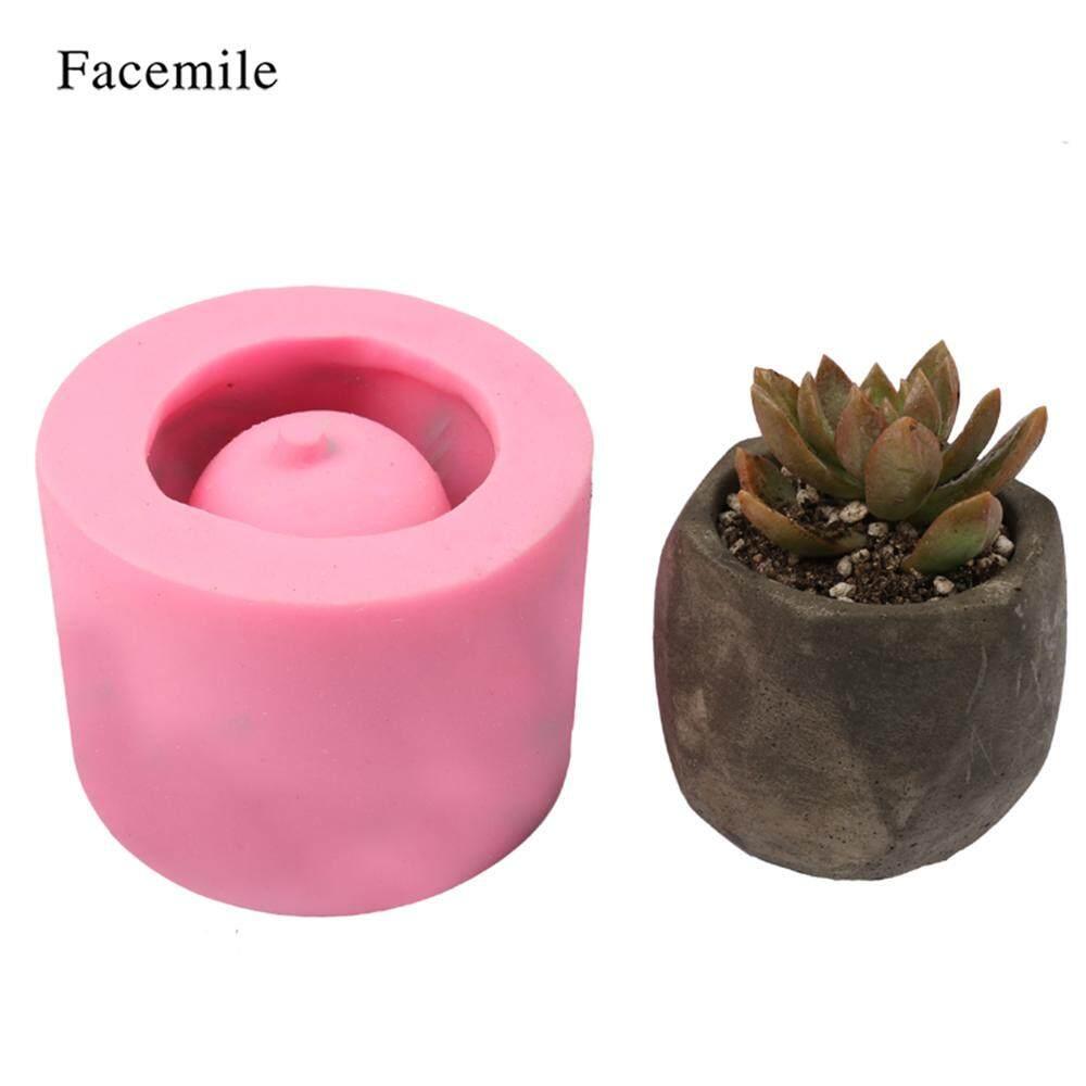 1 Pcs Bunga Penanam Pot Silikon Mould Buatan Tangan Kerajinan Taman Dekorasi Rumah Tanaman Pot Bunga