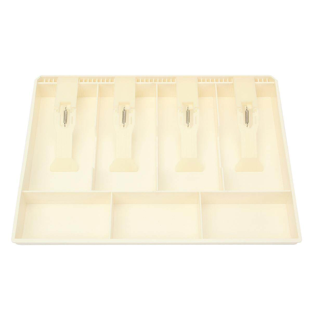 Cash Coin Register Replacement Money Drawer Storage Box With 4 Bill 3 Coin Trays White By Glimmer.