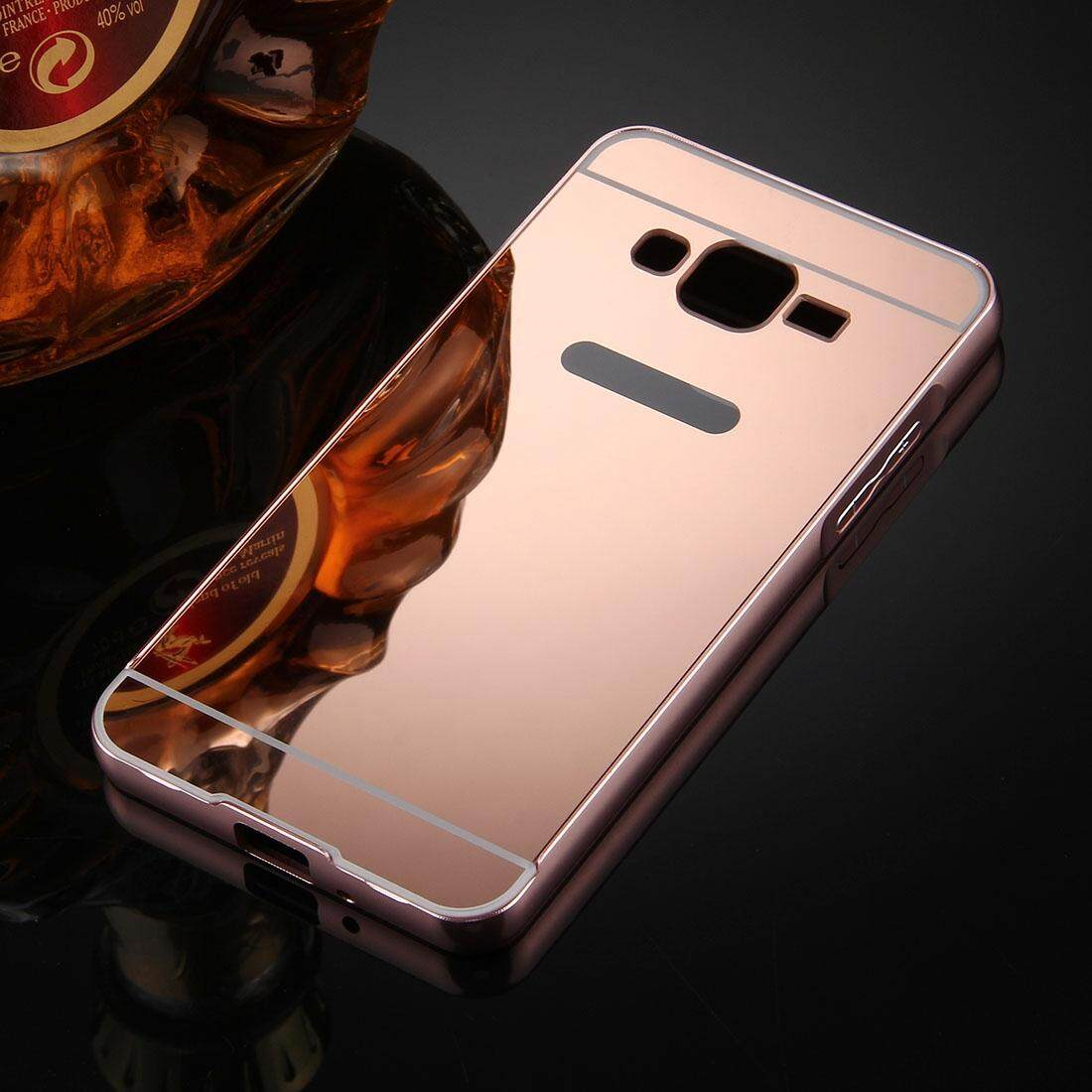 Detail Gambar For Samsung Galaxy J2 Prime Mirror Push Pull Back Shell Cover + Electroplating Bumper