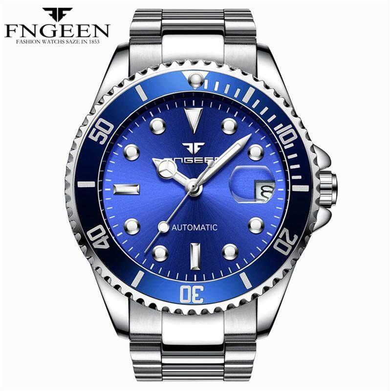 FNGEEN ผู้ชายธุรกิจเหล็กเต็มรูปแบบ Tourbillon ชายนาฬิกากลไกอัตโนมัตินาฬิกา - นานาชาติ