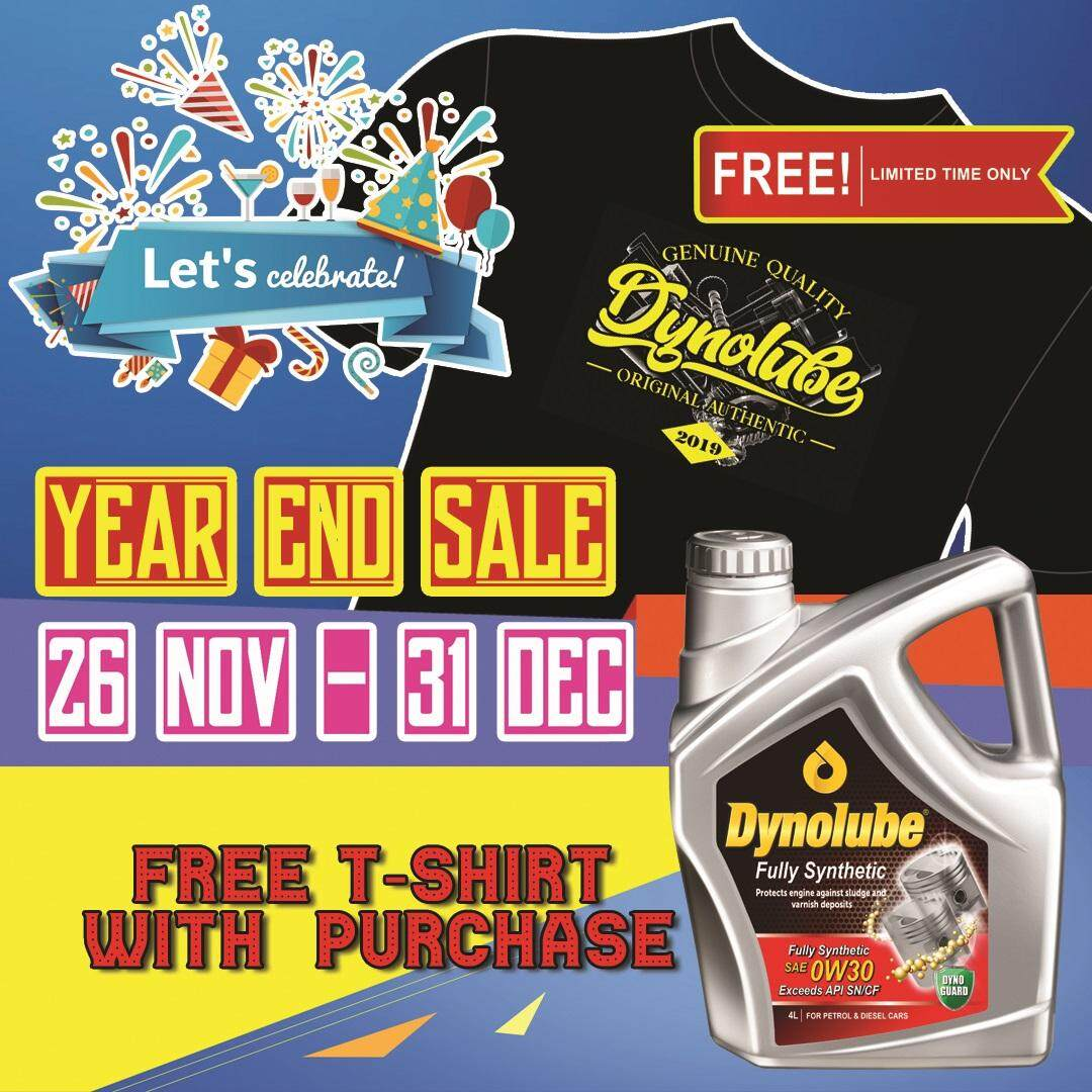 Dynolube 0W30 SN/CF Fully Synthetic 4Liter  Engine Oil FREE 1 X T-Shirt (E)