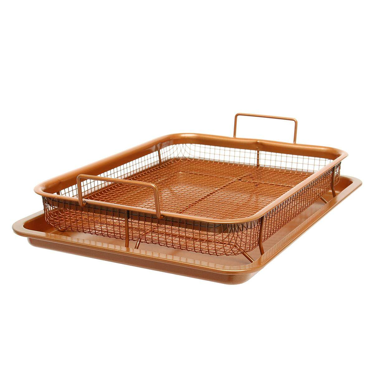 Bacon Bonanza By Gotham Steel Oven Healthier Bacon Drip Rack Tray With Pan - New - Intl By Freebang.