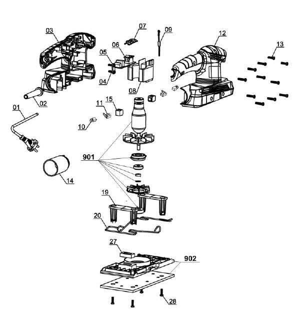 Spareparts Orbital Sander TC-OS 1520