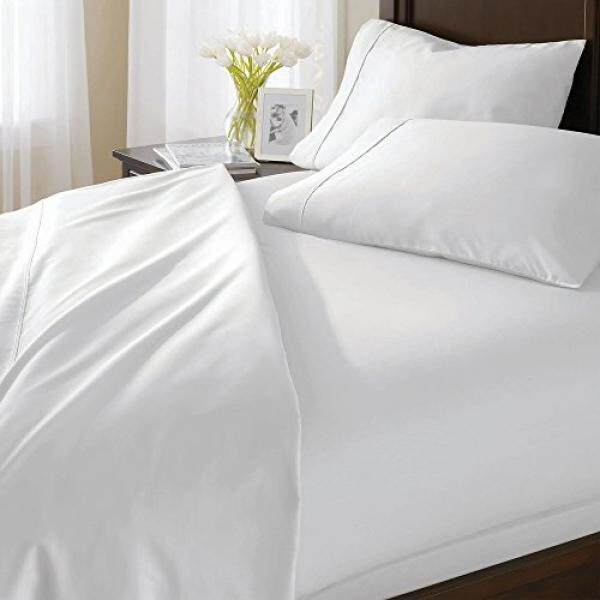 Solid White Queen Piece Bed Sheet Set 700 Thread Count 100% Egyptian Cotton 18 Inch Deep Pocket Sateen Weave Premium Quality Bedding Set by Prince Bedding - intl
