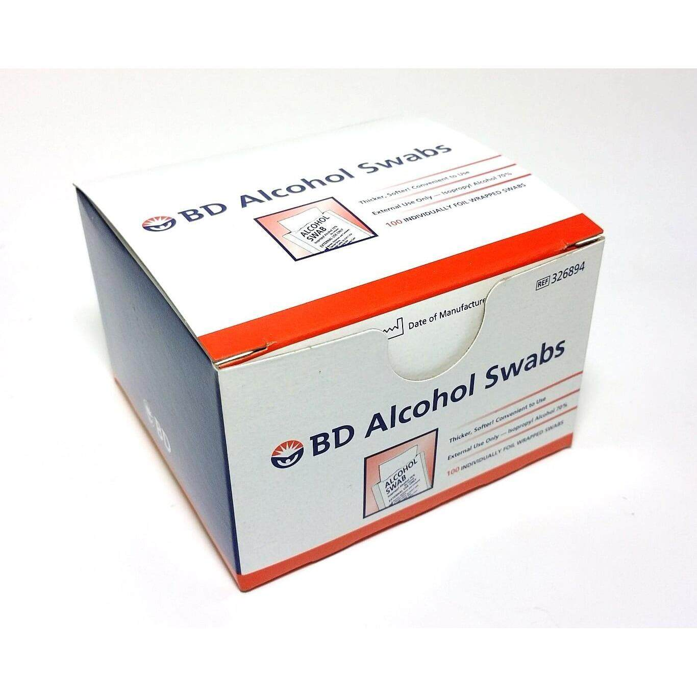 BD Alcohol Swab 100's (Sterile Alcohol Pad for disinfection)