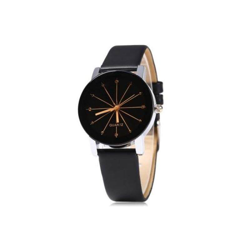 Ladies Quartz Watch Line Dial Leather Band Malaysia