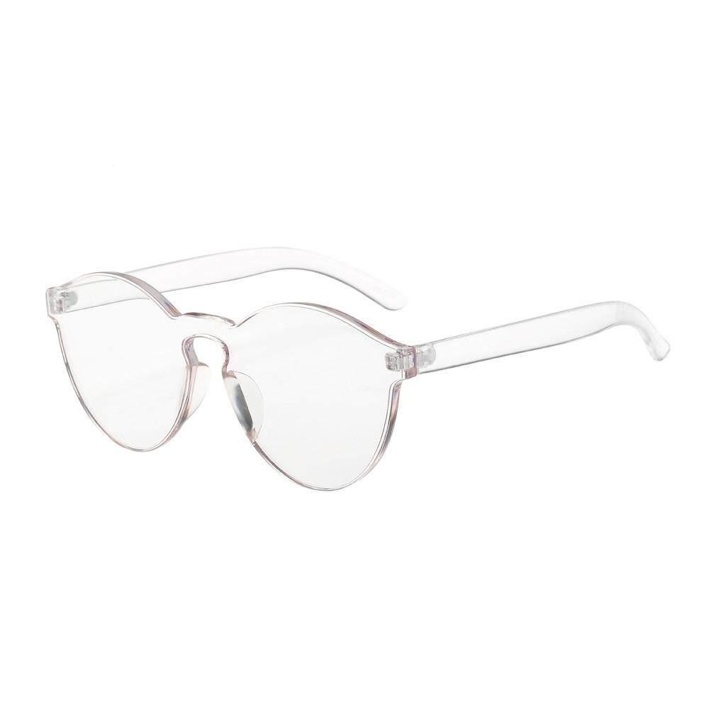Wanita Modis Kucing Mata Shades Kacamata Hitam UV Terintegrasi Permen Berwarna Kacamata-Internasional