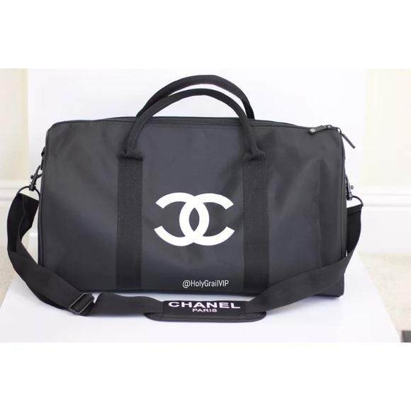 7556c1243d20 Authentic Chanel VIP gift bag travel Bag Gym weekend Duffle