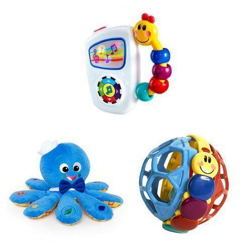 [Baby Einstein] Baby Einstein Take Along Tunes Musical Toy Baby EinsteinOctoplush Plush Toy & Baby Einstein Bendy Ball [From USA] - intl