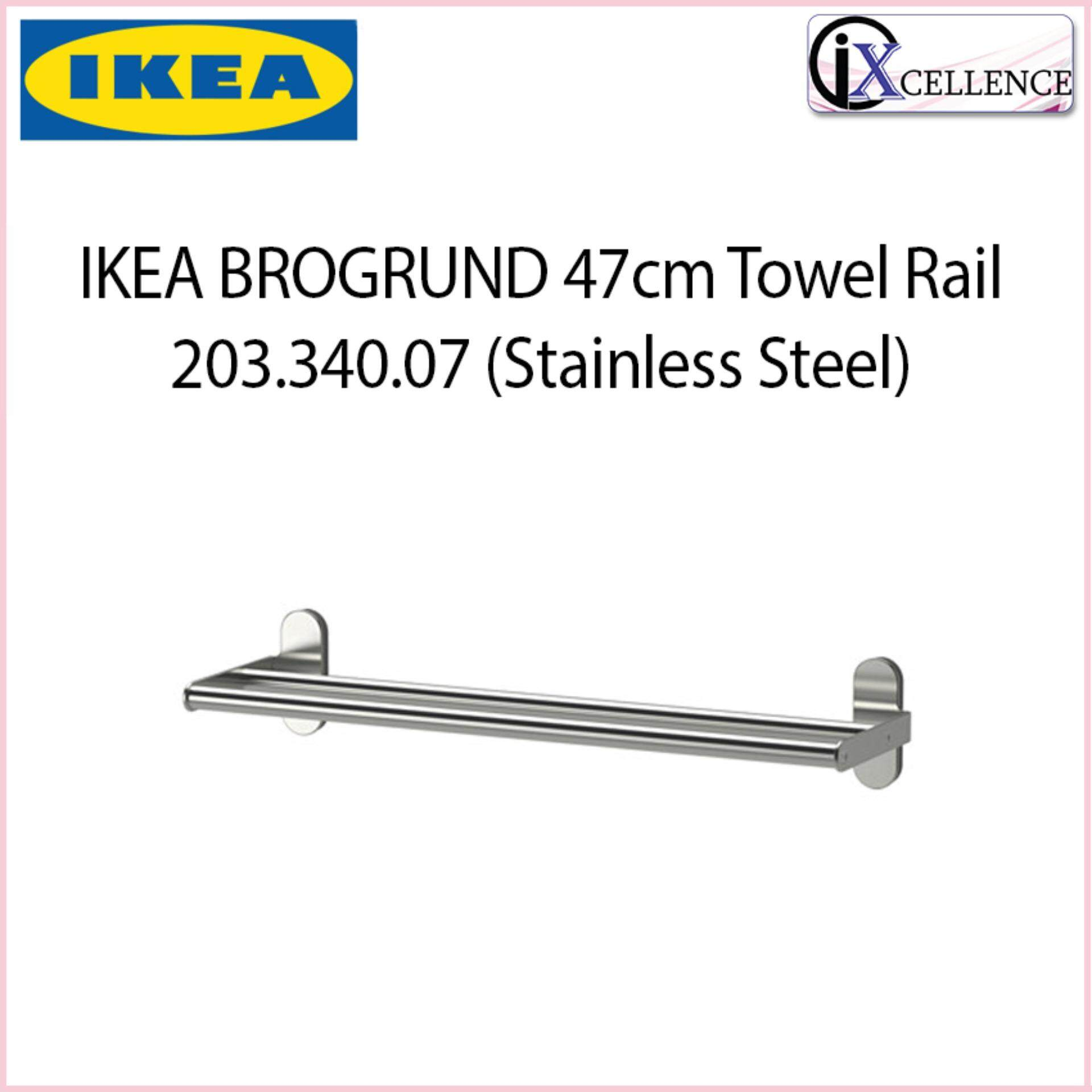 Fitur Ikea Rel Gantungan Dapur Bahan Baja Sunnersta Rail Kitchen Dan Running Text Holder Ix Brogrund 47cm Towel 20334007 Stainless Steel