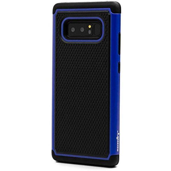 Galaxy Note 8 Case, Maxessory [Haven] Slim Shock-Proof Rugged Tough Protector Armor Shell w/ Durable Ultra-Slim Impact Protection TPU Thin Grip Cover Blue Black For Samsung Galaxy Note 8 - intl