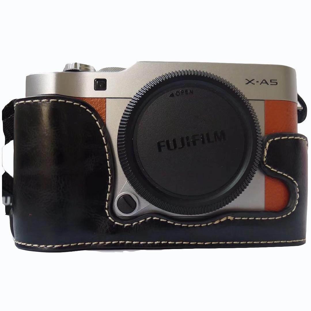 PU Kulit Sarung Tas Kamera Bawah Set Badan Set Sarung untuk X-A5 XA5 XA10 X-A10 XM1 X-M1 XA3 X-A3 dengan Bukaan Bawah-Internasional