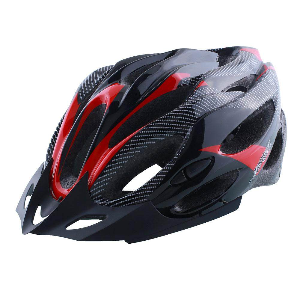 Acelit Cycling Helmet Adjustable Bicycle Bike Road Mountain Shockproof ultralight with Visor Red/Yellow/Blue