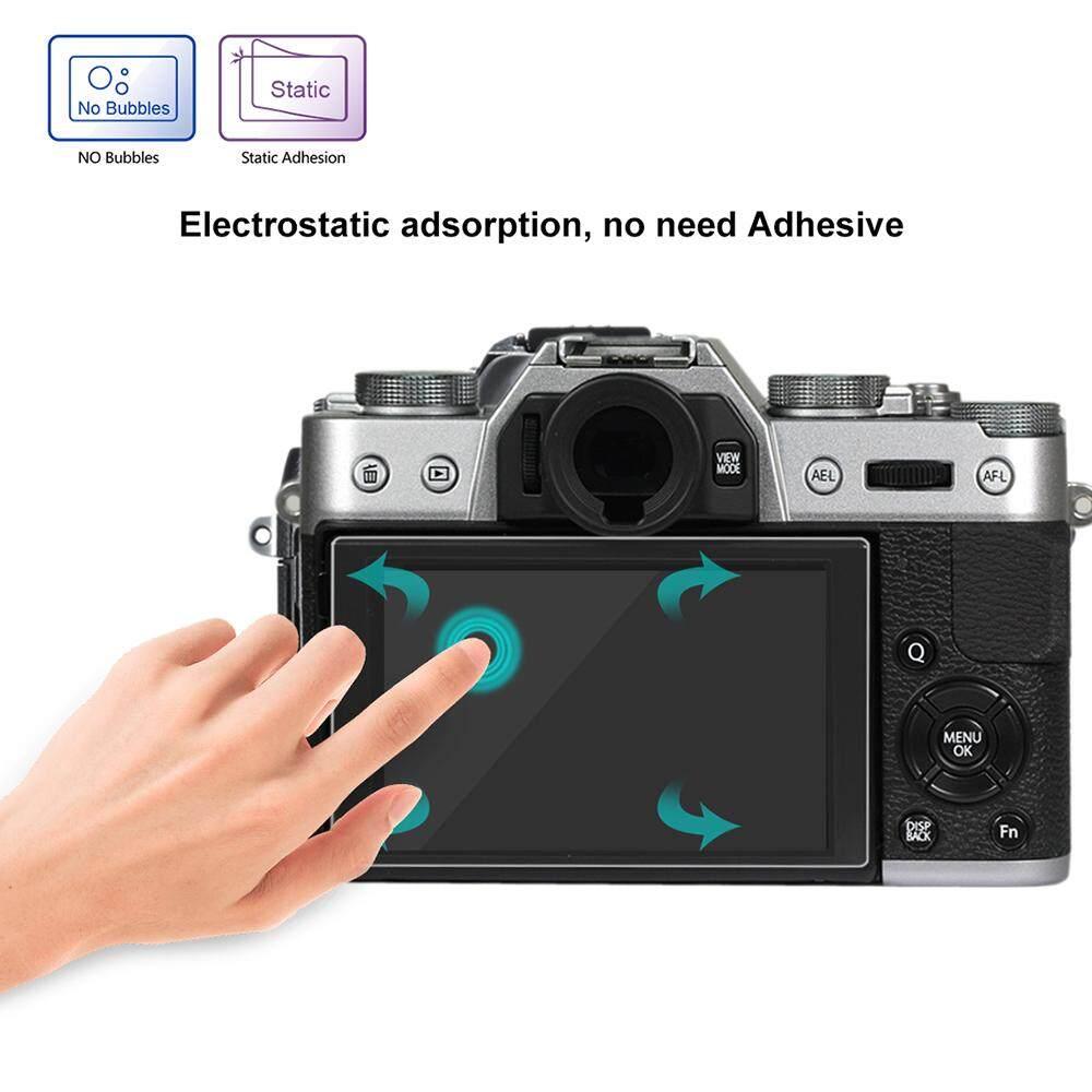 Puluz Layar Kamera Film Protektif Polycarbonate Pelindung Film Anti Gores Kekerasan Kaca Antigores Pelindung Layar untuk Canon Sony Nikon Panasonic FinePix Olympus Digital Camera Aksesoris untuk finePix X-T10/T20-Intl