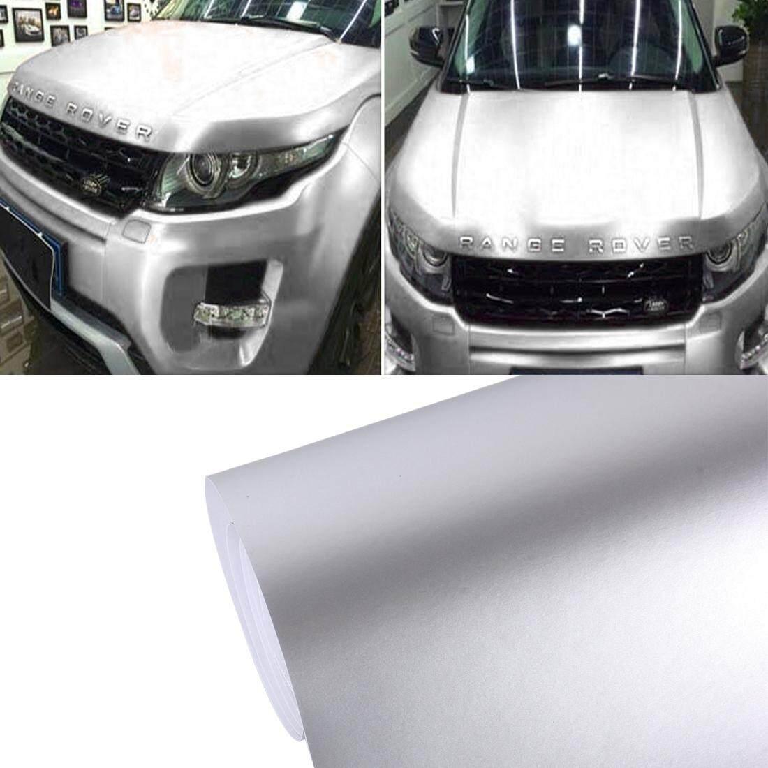 8 M * 0.5 M Es Biru Metalik Warna Tidak Mengkilap Icy Es Mobil Stiker Membungkus Sebuahuto Pembungkus Kendaraan Stiker Sepeda Motor Lembar tint Vinil Udara Gelembung Stiker (Perak) -Internasional