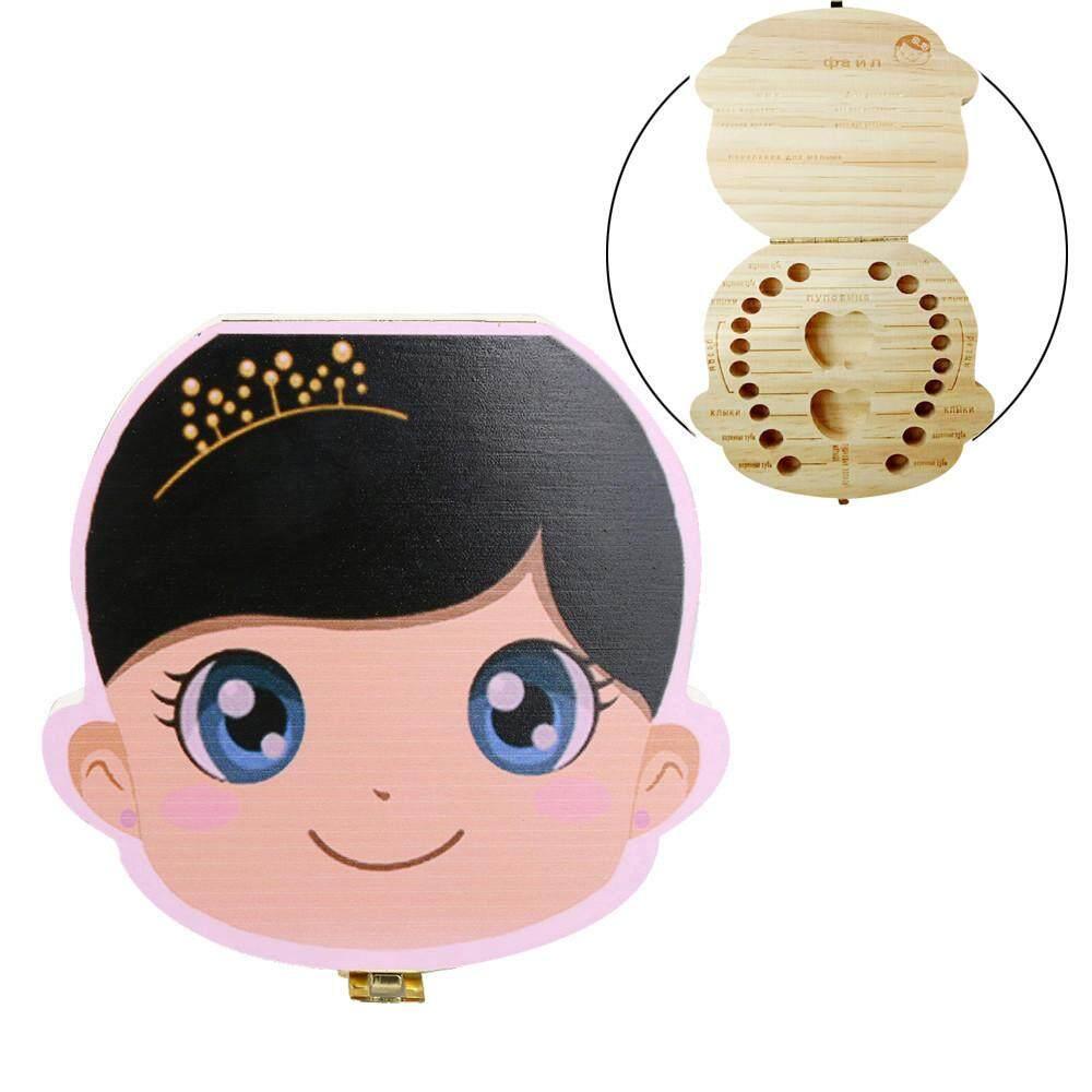 Kotak Gigi Organizer untuk Bayi Gigi Susu Menyimpan Kayu Kotak Penyimpanan untuk Anak-anak Anak