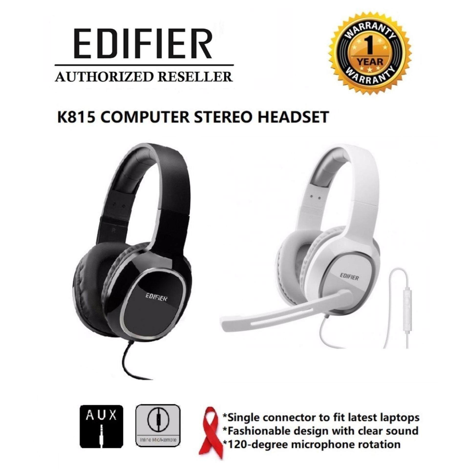 GENUINE Edifier  K815 Gaming Headset With Microphone & Clear Sound