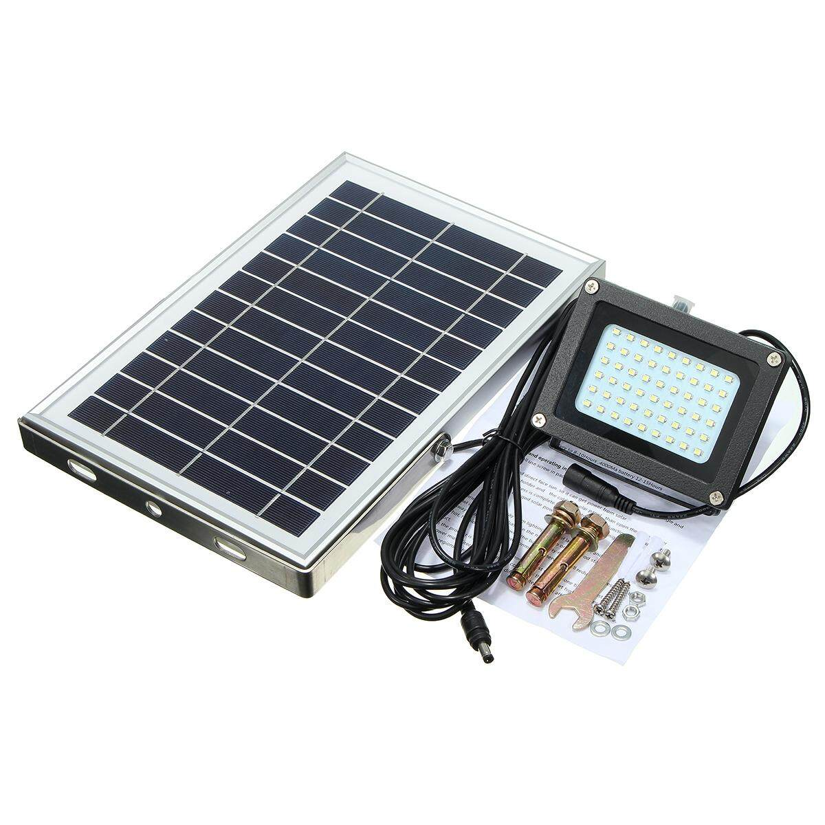 54 LED Solar Powered Waterproof Security Outdoor Flood Light Floodlight w/ Panel - Black - intl Philippines