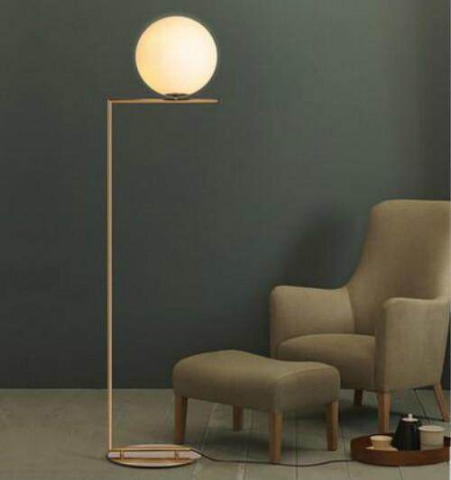 Modern Simple Glass Ball Stand Lamp Floor Lamp Nordic Personality Bedroom Bedside Living Room Sofa Round Ball Floor Lamp - intl