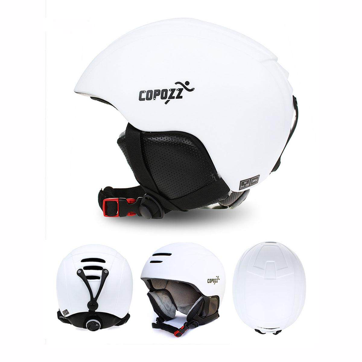 Copozz Ski Helmet Integrally-Molded Snowboard Helmet Men Women Skating Skateboard Skiing Helmet (white).