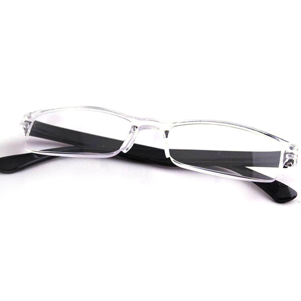 Obral Kacamata + 1.0 Sampai + 4.0 Pria Wanita Setengah Bingkai Ringan Bacaan Kacamata Uniseks (