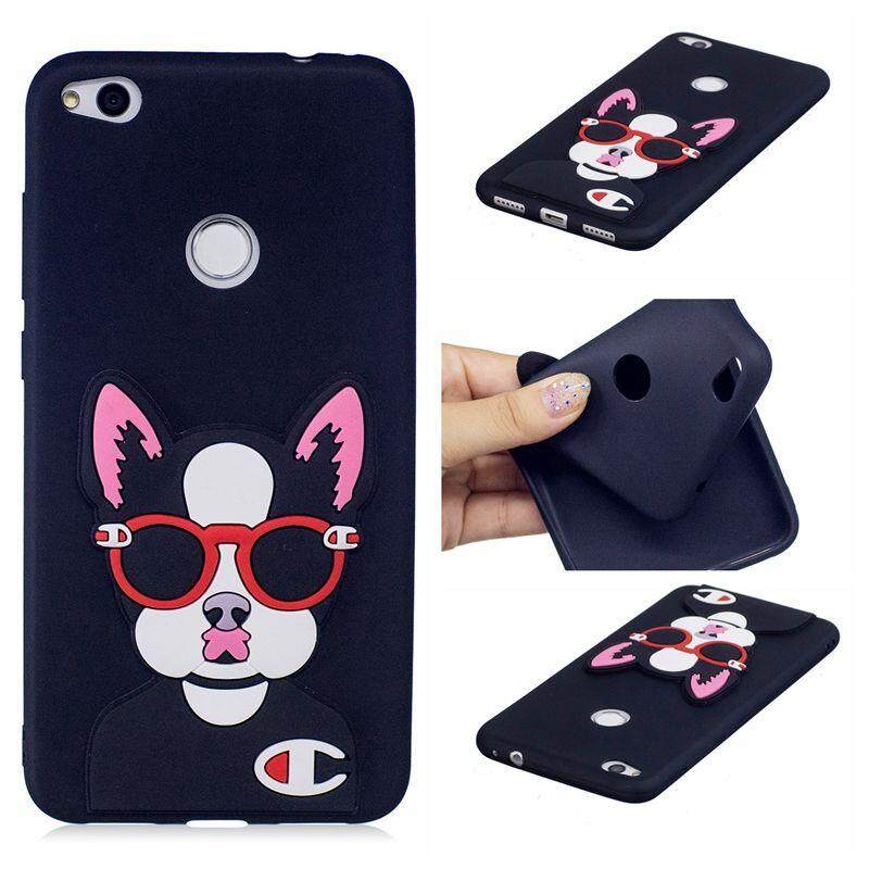 Case for Huawei P8 Lite 2017 / Nova Lite / P9 Lite 2017 Soft Rubber 3D Cute Cartoon Fun Fashion Shockproof Protective Cover