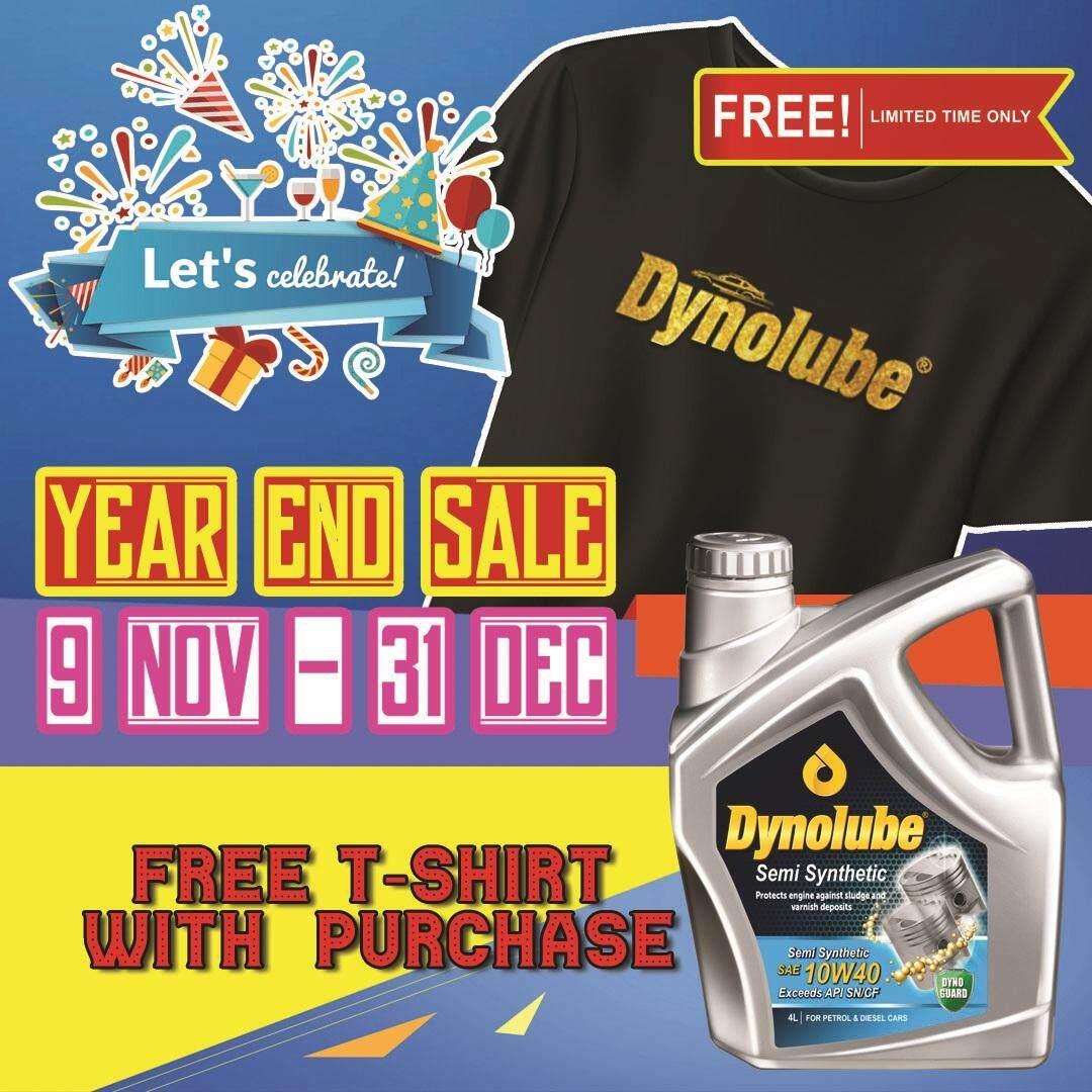 Dynolube 10W40 SN/CF Semi Synthetic 4Liter Engine Oil FREE 1 X T-Shirt (D)