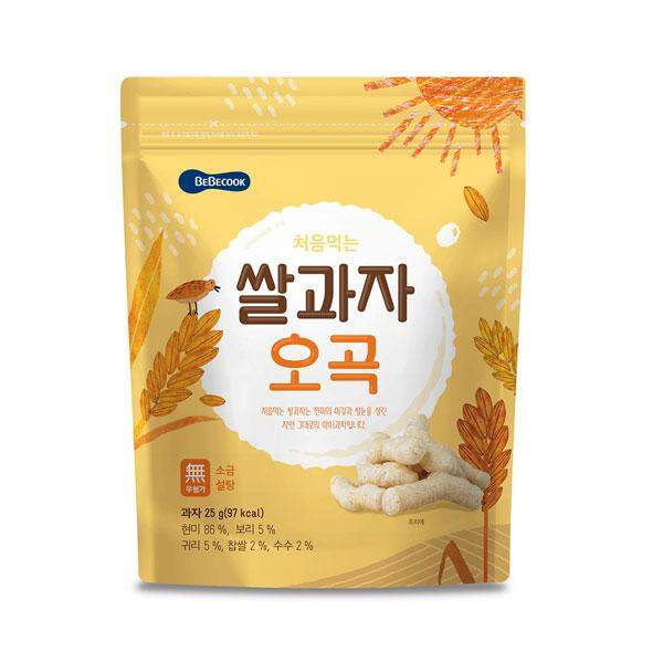 BeBecook Rice Snack Grain Flavor - Organic Baby Rice Snack and 100% Imported from Korea