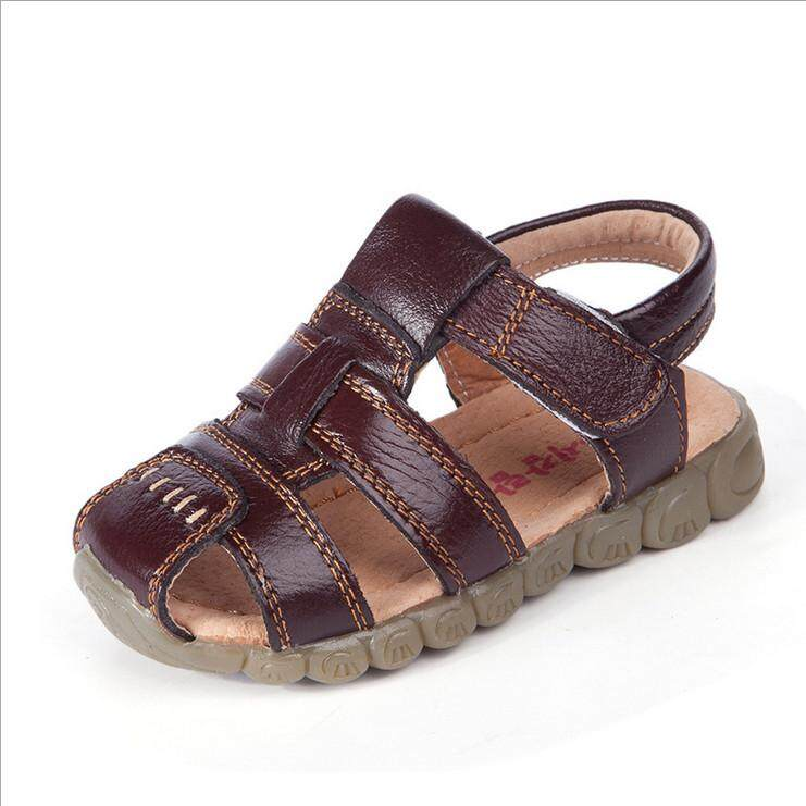 New Boys Soft Leather Sandals Baby Boys Summer Soft Sole Beach Sandals Shoes By Glimmer.
