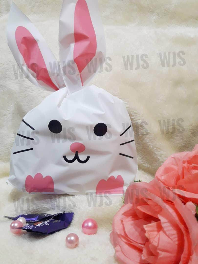 (MULTIPLE SIZES) WJS 50pcs 50 pcs Cute Rabbito Rabbit Smily with Feet Goodies Bag
