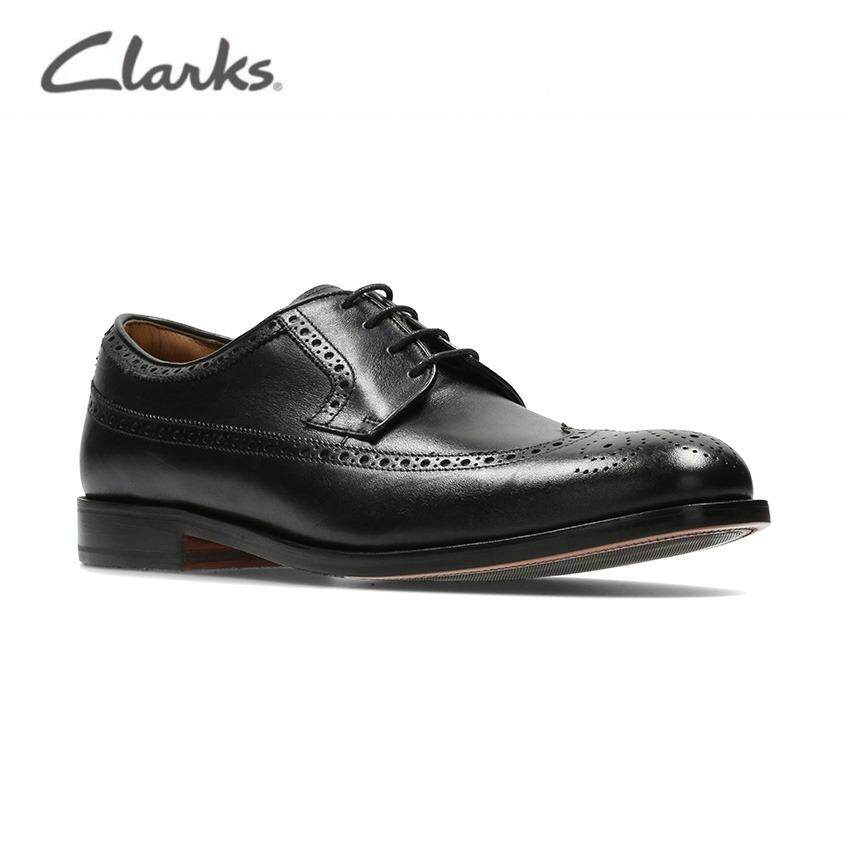 Clarks Coling Limit Mens Formal Brogues Shoes (Black Leather) (Wide Fit)