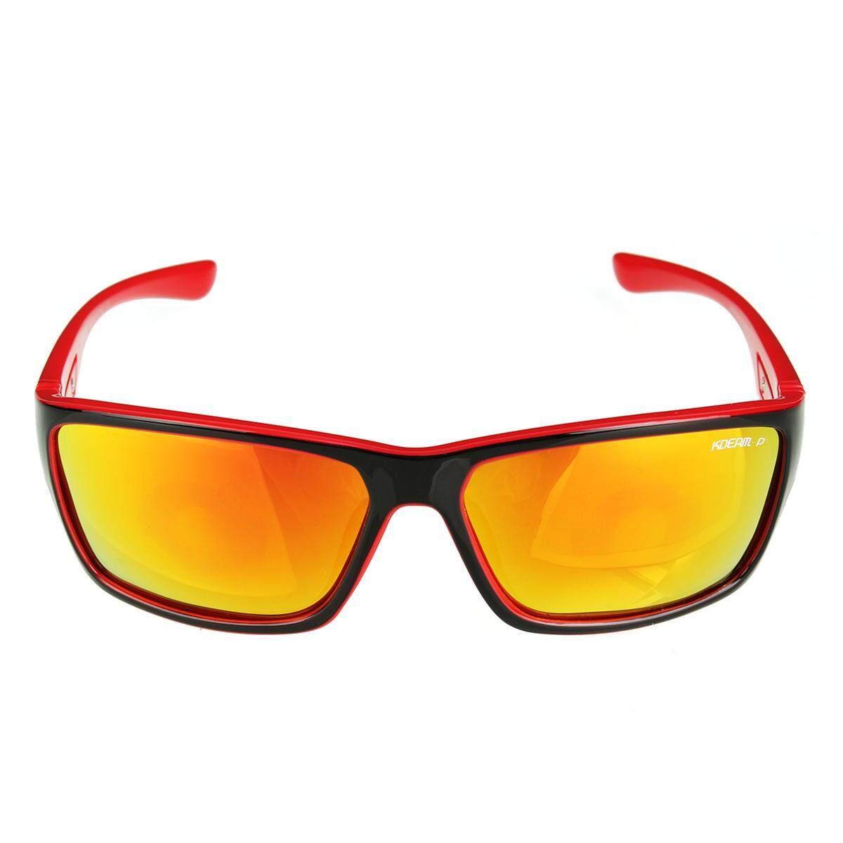 2 X Kdeam Kacamata Terpolarisasi Kacamata Hitam Retro Persegi Luar Ruangan Olahraga Bersepeda Helm Matahari Kacamata C4-Internasional