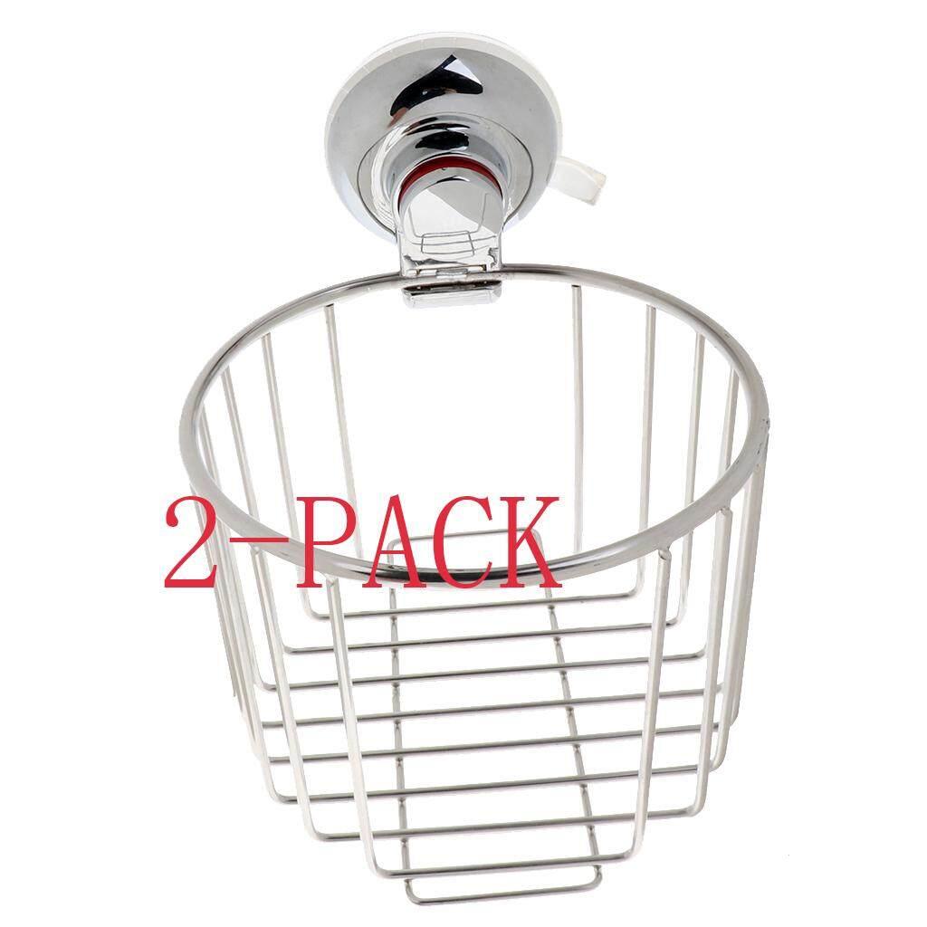 BolehDeals 2Pcs Stainless Toilet Paper Holder Dispenser Paper Roll Basket Rack 138mm - intl
